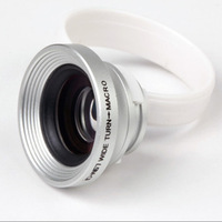 Free Shipping ! High Quality Universal Mobile Phone Wide Angle Macro Lens with Retail Package
