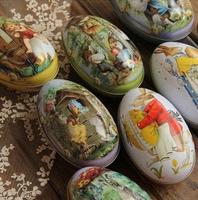 Freeshipping! 6style Rabbit series Painted eggshell Tin Storage box/ Classic Collection-mini jewelry Box/ Retro Storage Case