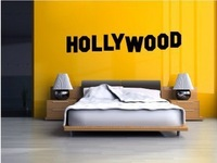 Free Shipping Text Quote Sign Hollywood Wall Stickers Decal DIY Home Decoration Wall Mural Removable Bedroom Stickers 120x21cm