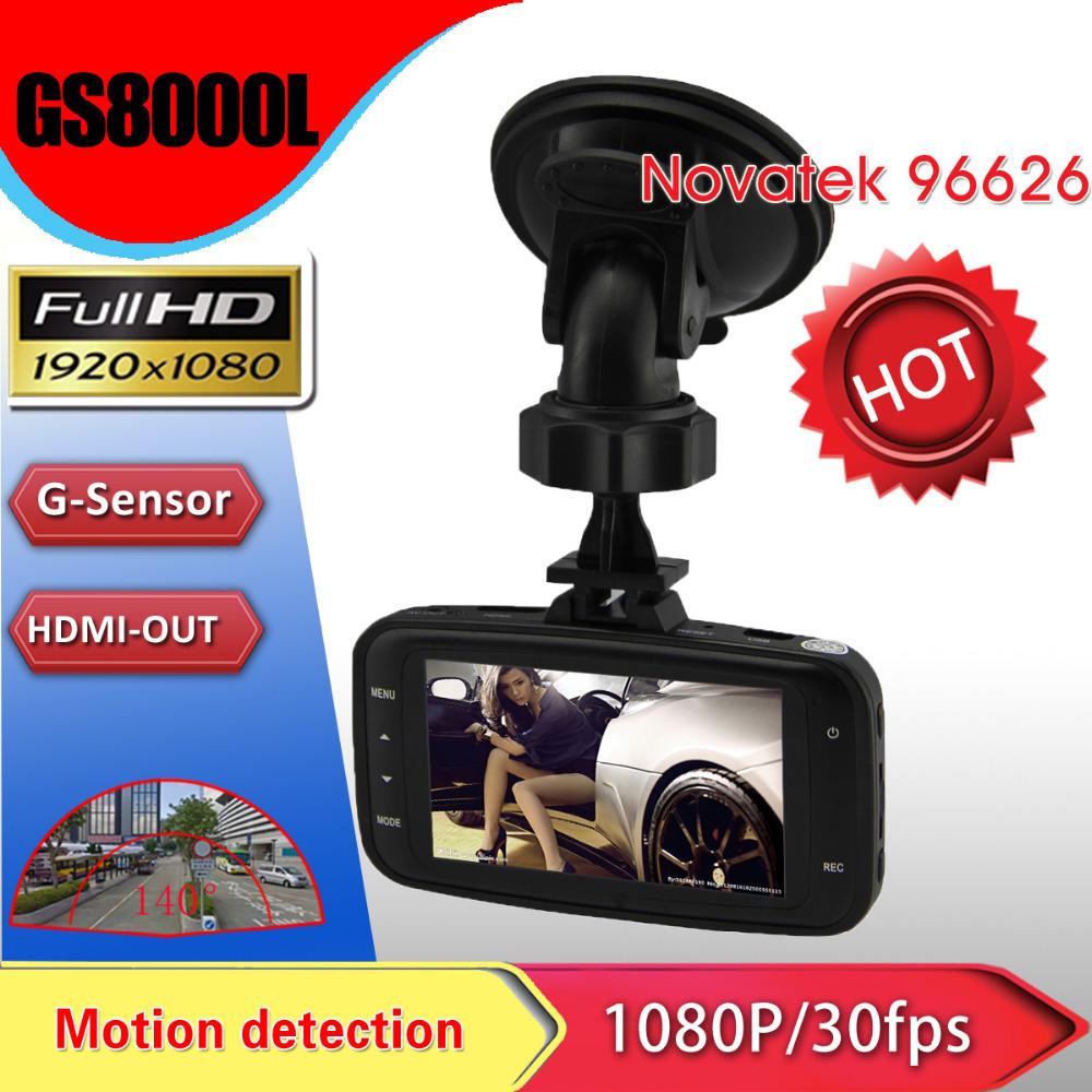 Original GS8000L Novatek 2.7 inch 140 degree 25fps Car DVR HD 1920x1080P Vehicle Camera Voice Recorder GS8000l auto registrator(China (Mainland))