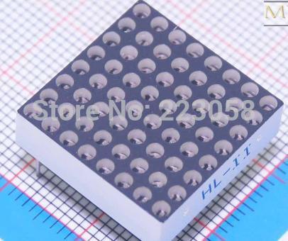 Livraison gratuite affichage LED Dot Matrix Anode commune rouge 5 mm 8 x 8 60 mm x 60 mm(China (Mainland))