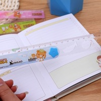 BF020 Creative stationery folding ruler Students ruler' Plastic 10*3.5cm free shipping