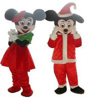 2Pcs/Lot SALE Mouse Couple Mascot Costume Adult Size Suit Christmas Fancy Dress Factory Direct Free shipping