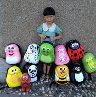 FREE SHIPPING!2014 New style British cuties cute children cartoon schoolbag animal backpack schoolbag children eggshell 009