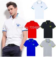 men's casual polo shirt 2014 summer slim fit cotton  la men camiseta tee solid color logo print male polo
