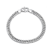 GNS0359 Free shipping 7inch silver bracelet New 2014 Fashion men's bracelet Genuine 925 Sterling silver  jewelry