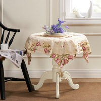 "Tulip Heavy Embroidery Cutwork  Square Table cloth 85X85CM SQ(33X33"")"