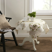 "Lovey Daisy Embroidery Table cloth 85X85CM SQ(33X33"")"
