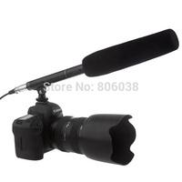 Professional Shotgun Interview Condenser Recording Microphone, Uni-Directional Camera Camcorder Speaker