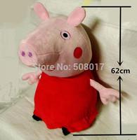 Wholesale - 62cm Big Size Peppa Pig & George Pig Pink Cartoon Stuffed Plush Kids Toddler Toys Free Shipping