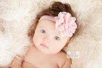 Free Shipping 2014 Baby Headband Infant girls Flower Headbands Chiffon flower Newborn toddler chic roses headband