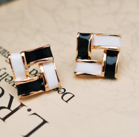 2014 18K Gold-plated Fashion Sweet Candy Droplet Square Earrings For Women Jewelry Wholesale XY-E87