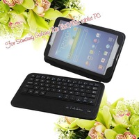 High Quality Wireless Bluetooth Keyboard case ,Pu Leather Stand Case Cover For Samsung Galaxy Tab 3 8'' Tablet PC Free Shipping