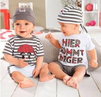 Summer Set Baby Boy 3PCS Short Clothing Sets Hat Tshirt Pant Set Fashion Clothes Set For Baby Boy 2015