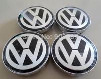 4pcs 60mm VW Chrome Wheel Centre  Caps Hubs cover volkswagen car emblem Badge POLO GOLF PASSAT TOURAN w4301