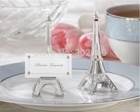 "hotsale ""EVENING IN PARIS"" eiffel tower silver finish place card holder 50pcs/lot"