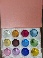 new style 50mm multicolour crystal diamond gift 12pcs/set galss  paperweight home/hoilday decoration souvenir  wedding gifts