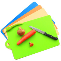 Candy color Flexible thin chopping board portable cutting board Necessary to go out for a picnic 35*24cm 79 g free shipping