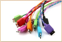 charger cable for samsung note 3 N9000,3M 10FT Braided Fabric Micro USB 3.0 Data Charger Cable Samsung Galaxy Note 3 N9000 hot
