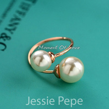Italina Rigant Unique New Arrival Elegant Rings Anel Joias de perola For Women With Austrian Crystal Stellux #JP96902