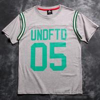 Undftd 05 2014 summer brand men's short sleeve shirt fashion Round neck t-shirt cotton casual tshirt hiphop tshirt unisex 198