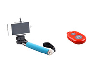 Extendable Handheld Camera Tripod Mobile phone Monopod+Universal Clip+iPega Bluetooth Remote Control Shutter for iPhone Samsung