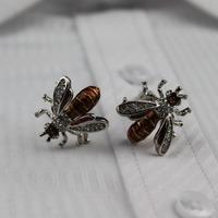 Rare Exquisite Novelty Bee Shape Cufflinks High Quality Men's Wedding Groom Party Shirt Dress Sleeve Cuff Links,Free shipping