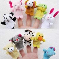 Lovely mini animal even a finger tell a story toy puppet full set 10 set