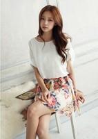 New 2014 Chiffon Women Summer Dress Casual Dresses with print dress Women Fashion vestidos