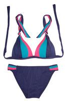 2014 New Contrast Color Triangle Top Bikini Set For Women Swimwears Fashion Ladies Swimsuit Beachwear Hot Summer Bathing Suit