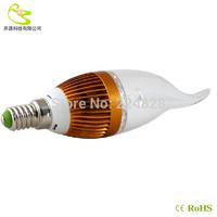 (4pcs/lot) High quality 5w led candle light 90-260V 450lm Aluminum materail 3 years warranty e14 led candle bulb
