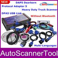 2014 Professional Truck Diagnostic Tool DPA5 Dearborn Portocol Adapter 5 Heavy Duty Truck Scanner CNH DPA 5 USB Link DHL Free