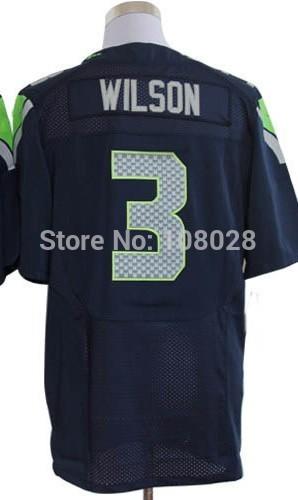 # 3 Russell Wilson maglia, elite gioco del calcio jersey, migliore qualità, ricamo logo, maglia autentica, taglia m- xxxl, accettare ordine della miscela
