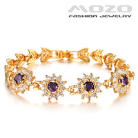 Free shipping wholesale new fashion jewelry Purple Cubic zirconia braclets for women 18K gold plated bracelets & bangles TY411