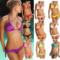 Free Shipping 2014 New 11 Color Candy-Colored Bikini Swimsuit Swimwear Push Up Sexy Swimsuit KIKEY Brand j3103