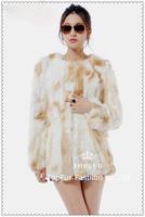 EMS Free Shipping New Genuine Real Rabbit Fur Coat Natural Rabbit Fur Jacket Women Winter Rabbit Fur Waistcoat TP125