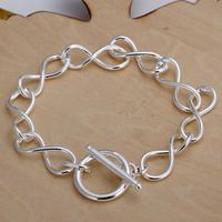 H139 Wholesale! 925 silver bracelet 925 silver fashion jewelry charm bracelet 8 Shape Bracelet