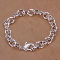 H089 Free Shipping Wholesale 925 silver bracelet, 925 silver fashion jewelry Shrimp Lock Thick Bracelet / bngakenasv