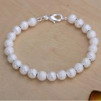 H145 Free Shipping Wholesale 925 silver bracelet, 925 silver fashion jewelry 8mm Beads Bracelet / bpdakgkasx
