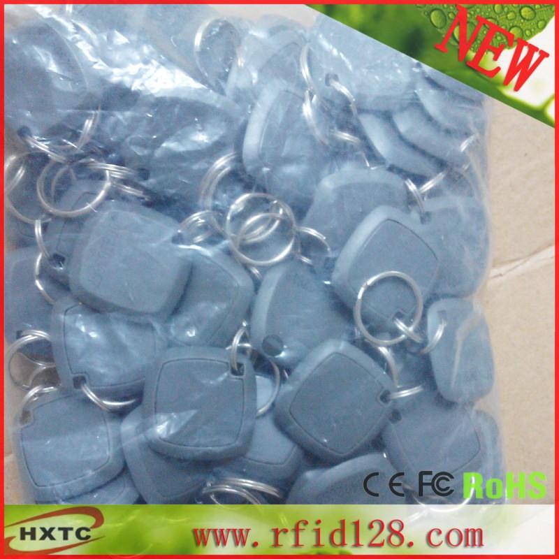 100PCS/Lot ABS 125Khz EM4100 TK4100 Chip Proximity RFID ID Token / Keyfob / Keychain Card /Tag /RF Card For Attendance System(China (Mainland))