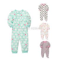 Carters Baby Girls Clothing Rompers Fleece longsleeve Newborn-9m kid winter autumn jumpsuit sleep and play wear