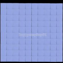 100Pcs 10x10x1mm Silicon Thermal Pad Heatsink Conductive Insulation Paste H1E1(China (Mainland))