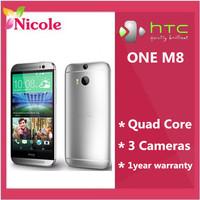 M8 Original Unlocked HTC ONE M8 Quad Core Mobile phone 4G LTE Android 4.4 2GB RAM 16GB/32GB ROM 3 Camera Free Shipping