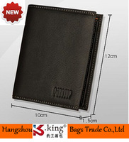 High Quality Cowhide Short Simple Design Genuine Leather Men Wallets , Unique Carteira As Gift For Man , Free Shipping