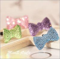 Wholesale Phone accessories 3.5mm Crystal bowknot designs earphone plug dustproof Dust plug for phones candy color