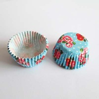 200pcs mini size bule flowers cupcake liners cake mould bakeware cake decorating tools for wedding base 24mm