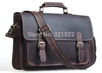 Free shipping  genuine leather bags  Cowhide Leather Men Messenger Bag Briefcase Laptop Shoulder Bag New Arrival Tiding 1099