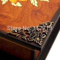 46mm large wrap angle triangle alloy fillet antique wooden wine lace corner decorative corner piece