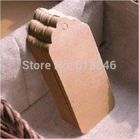 500pcs/lot Wholesale 350G Kraft paper Blank Hang tag 3*5cm Mini Retro Gift tag Table Number cards High Quality Kraft Tag