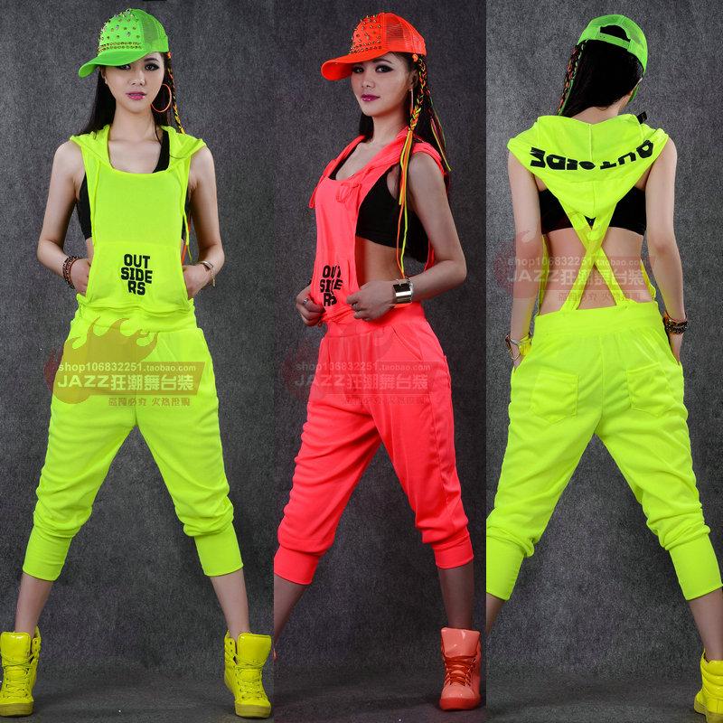 Hip Hop Dance Group Outfits 2014 New Fashion Hip Hop Dance Costume Performance Wear European Loose